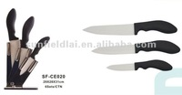 Fashion Design3 Pcs Kitchen Ceramic Knife Set with Acrylic Block