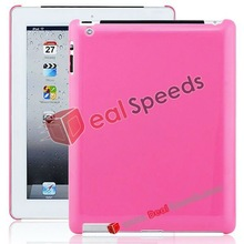 for iPad 3 Hard Back Cover with Glossy Surface(Pink)