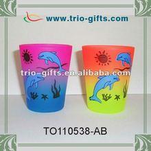 Popular rainbow shot glass with dolphin design