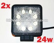 24w LED Work off road Light fog roof rack bar utv rv bumper reverse 6000k suv