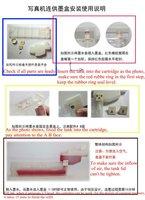 Refillable ink cartridge for Mimaki JV5 wide format printer