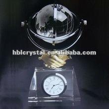 Fashion Globe Crystal Clock
