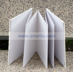 A07311 White Design Guest Book For Wedding With Folded Blank Pages