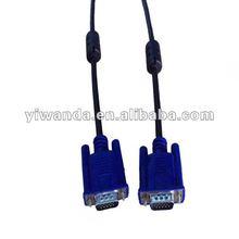 blue plug female vga cable , apple model ,dual ferrite core