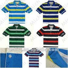 Custom stripe bulk polo shirts for men