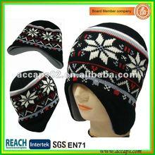 Snow pattern winter hat BN-0070