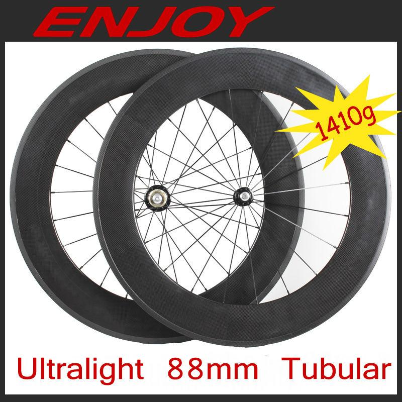 2013 new ultra - léger roue de carbone 20 / 38 / 50 / 60 / 88 mm tubulaire