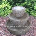 Granito de piedra fuente de agua, decorativos de interior de luz led de la fuente, 3 nivel jardín fuente de piedra boles/cuencos ( 23 años de fábrica )