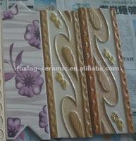 natural resin tile border hot sale 200x70mm 200x80mm 200x100mm 300x70mm 300x80mm