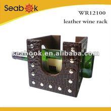 leather single wine bottle holder