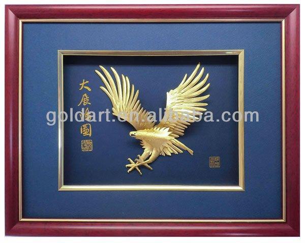 eagle 24k folha de ouro de imagem
