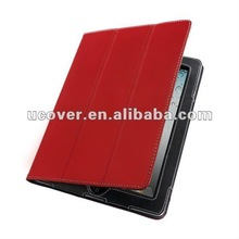 Leather folio case for ipad 3,2