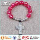 Catholic Cord Red Plastic Rosary Ring