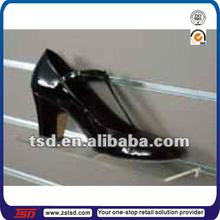 TSD-A991 factory customized shoe store acrylic angled slatwall shelf/slatwall holder/acrylic slat wall shelf
