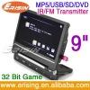 Erisin 9 inch Portable In Car Twin Screen DVD Player