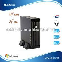 1080P,HDMI,DVI,VGA Port,2G RAM,8GSSD,New mini itx case,thin client,pc station,workstation,desktop computer,