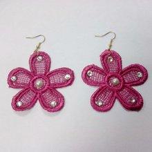 2012 crochet flower shape earings