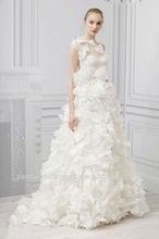2012 new fashion lace transparent one shoulder A-line butterflies skirt wedding dresses