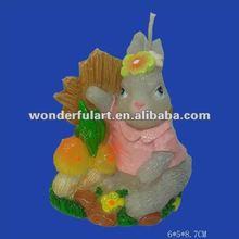 2012 hot sale animal rabbit candle souvenir