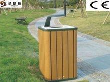outdoor wood plastic composite plastic dustbin