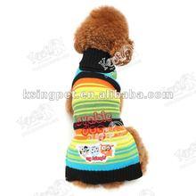 2012 LD Rainbow Strip sweater dog clothing