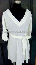 women's fashionable deep V-neck cotton plus size casual dress