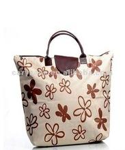 2014 latest fashion bags , floral folding handbags