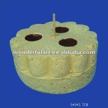 fashion paraffin wax cake shaped candle