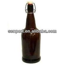 amber glass swing top bottles