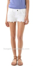 White Cutoff Shorts for women HSP022