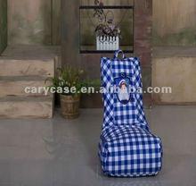 CARY13 Kids chair, kids beanbag,kids bean bag ,blue checkout or grid baby beanbag seat