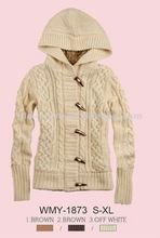 2012 ladies new hoody sweater jacket for winter