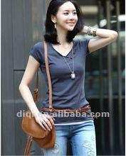 Fashionable design cotton short sleeve t shirt for women 2012