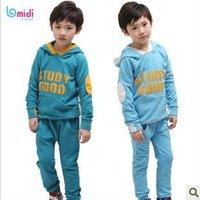 hot sale boys pant shirt casual sweat suit children twinset clothes sets for boys sports t-shirt set