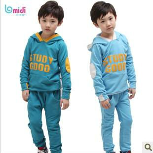 hot sale boys pant shirt casual sweat suit children twinset clothes sets for boys sports t-shirt set