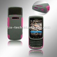 cellphone case pc and silicone case for blackberry 9800-11