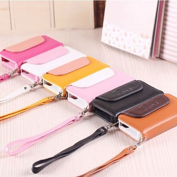 brand pu leather cell phone protective bags