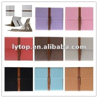 fashion style for ipad case, leather case with stand for i pad3