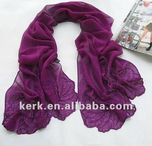 Stocks Sale!! 2012 Fashion Leaf Design 100% pure silk scarf, Shawl Scarf, Stock 20 colors Wholesale Price,100% Silk