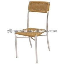 aluminum metal wicker chair