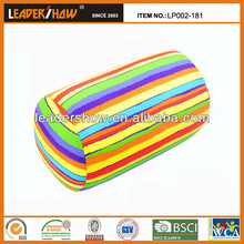 Colorful Stuffed cushion filled with microbeads(column shape)