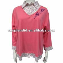 pink printed long sleeve women s apparel 2012 OEM service