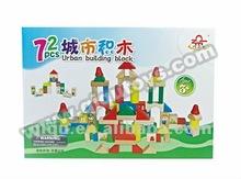 72 Piece City Building Blocks Toys Set Wooden Construction Toy