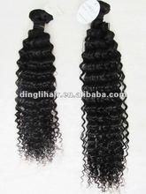 2012 Hot sale cheap virgin brazilian wavy curly hair weaving