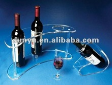 clear acrylic wines holder/acrylic alcohol holder
