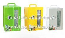 2012 mini refridgerator low enery consumption AC220-240V/60HZ DC 12V 18L cute mini car refrigerator with mini show window