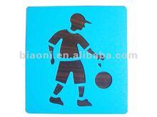 Joueur de Football populaire PP enfants en plastique pochoir