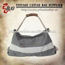 2012 Hot Selling Durable Striped Canvas Handbag Processed by Enzame Wash/Shoulder bag/Hobo Bag for Girls/Women