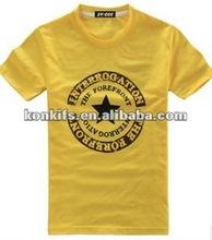 100%Combed Cotton T Shirt Polo T Shirt Beige Color