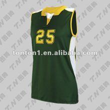 Sin mangas uniformes de voleibol diseños venta al por mayor